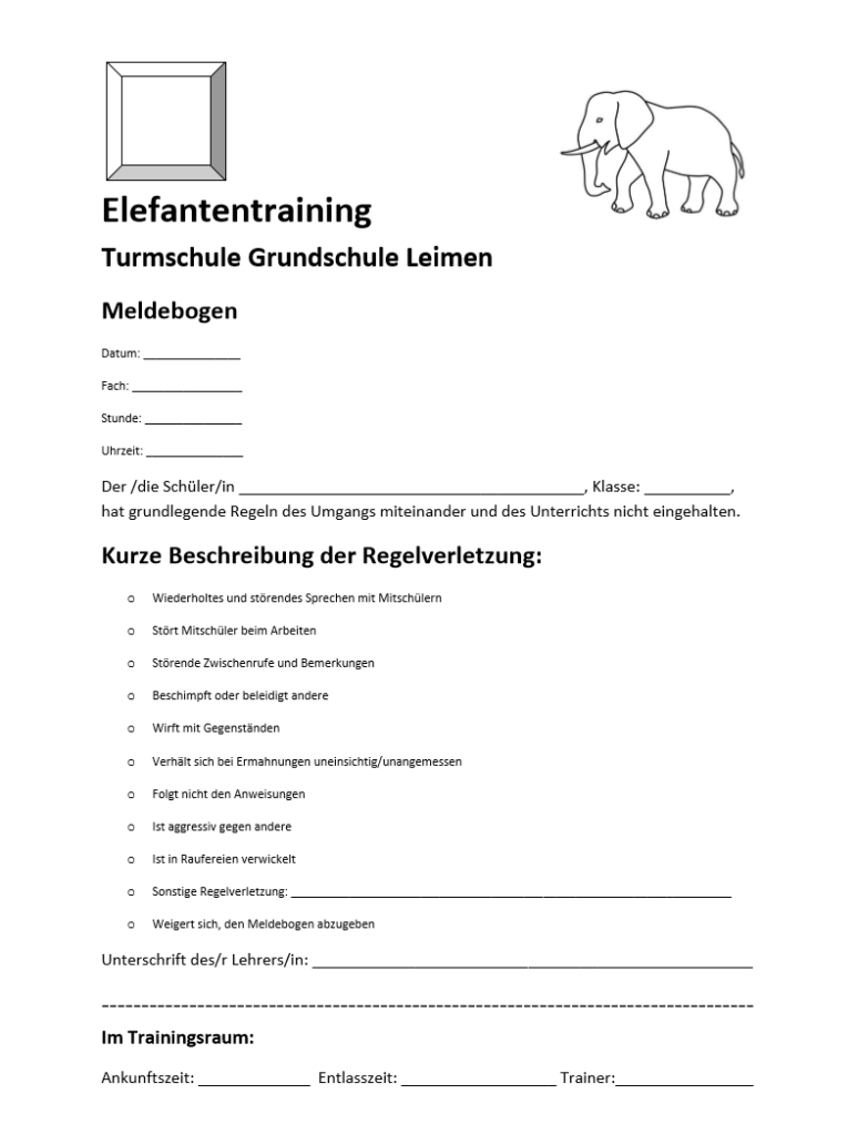 Elefantentraining_Meldebogen